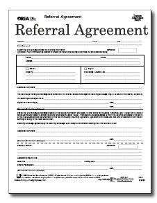 Referral Agreement Template. customer form success. patent ...