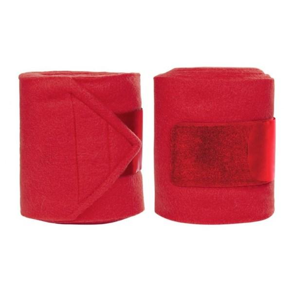 Fleecebandage röd