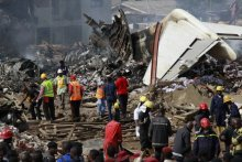 DANA Air plane crash site