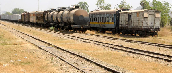 Railway caoches at Bauchi station