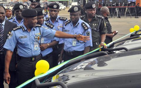 police patrol vans