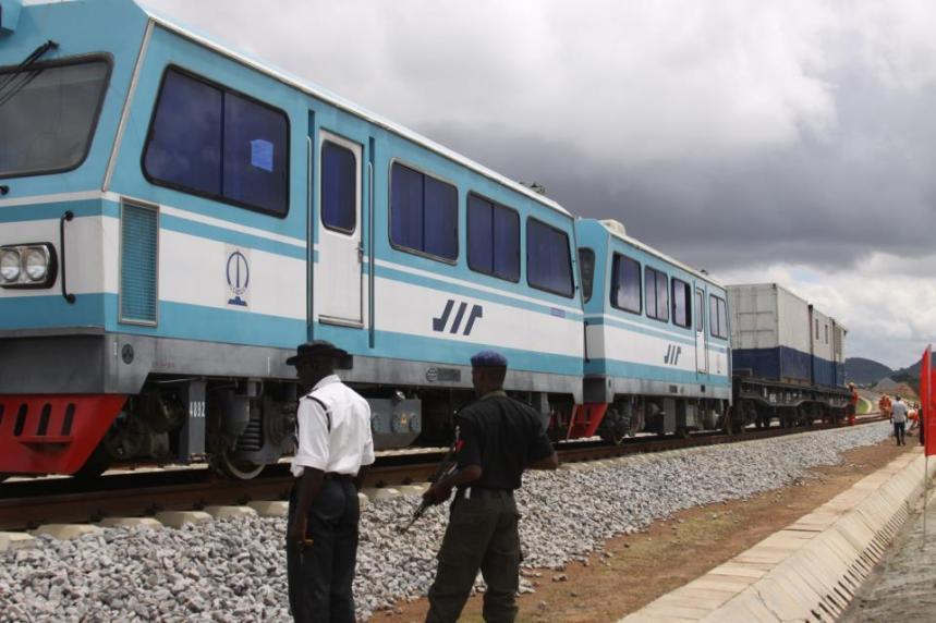 Abuja rail train coach