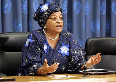 Ellen-Johnson sirleaf, Liberian President