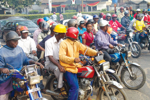 Image result for images of okada riders in lagos