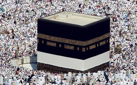 Grand Kaaba, a building at the center of Islam's most sacred mosque, Al-Masjid al-Haram. PICTURE CREDIT: https://en.wikipedia.org/wiki/Kaaba