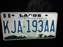 Nigerian Plate Number used to illustrate the story