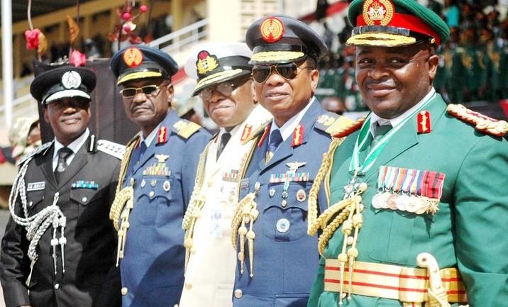 Service chiefs Nigeria