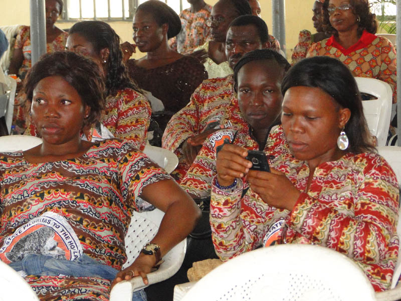 FILE PHOTO: A cross section of the intending Pilgrims from Bayelsa State, during the Flag-off ceremony of the Pilot Scheme of the Easter Pilgrimage exercise 2012 in Port Harcourt.
