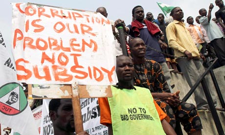nigeria corruption protest