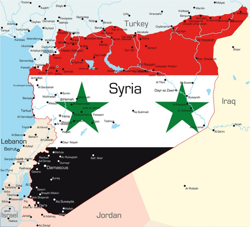 Syria on map used to illustrate the story.