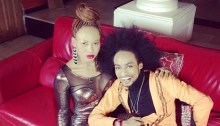Derenle Edun and Goldie