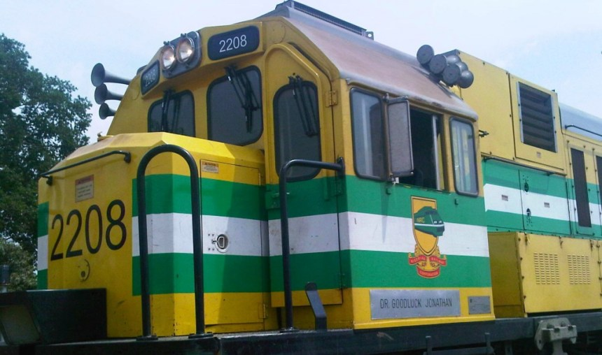 A Nigerian train coach named after former president, Goodluck Jonathan.