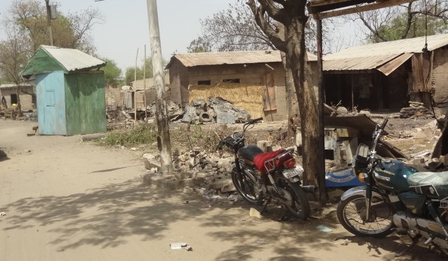 File: Baga after a Boko Haram attack