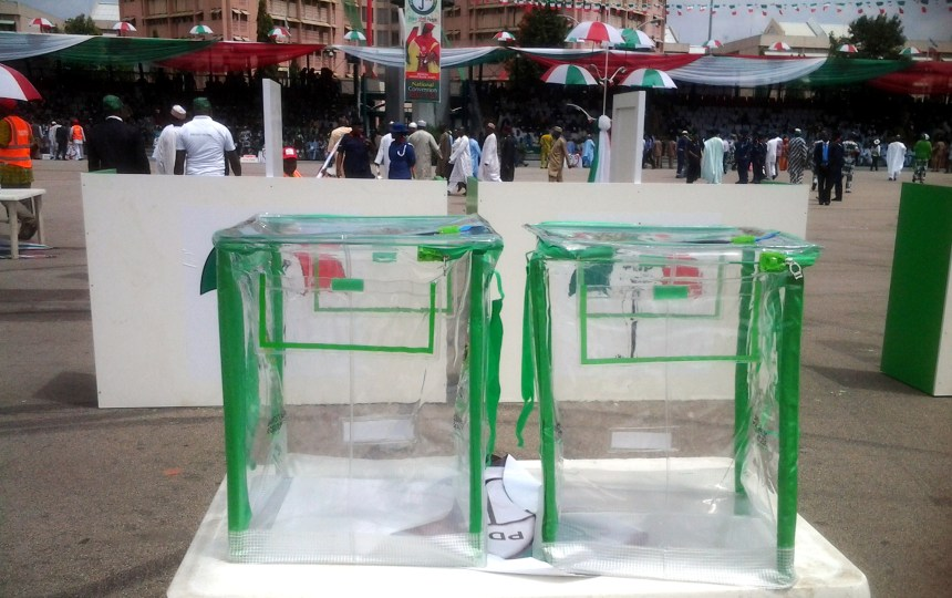 Ballot boxes used to illustrate the story.