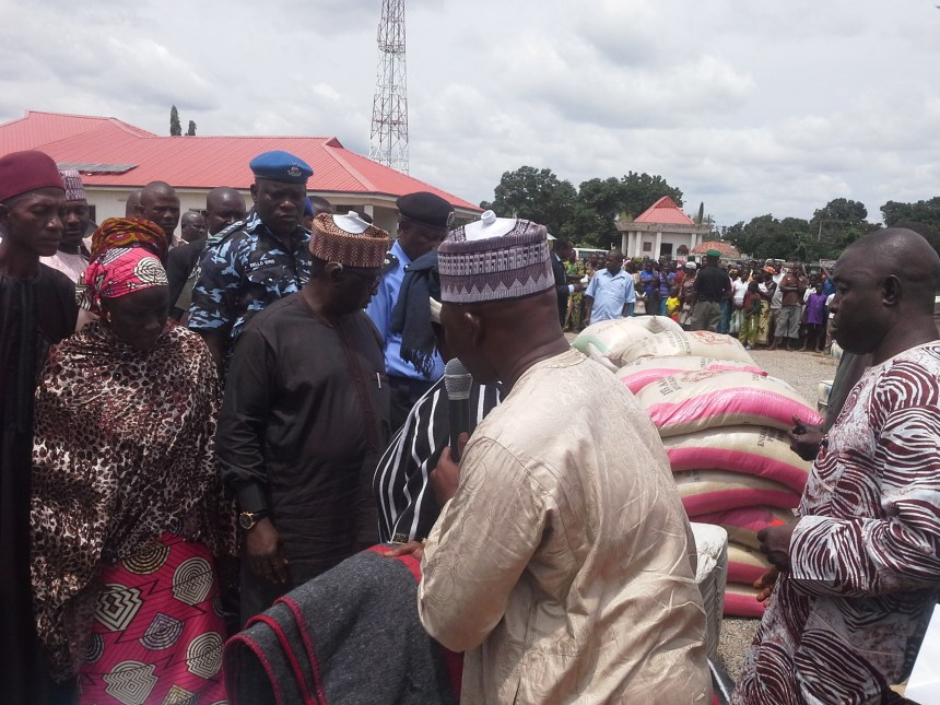 Image result for Al-Makura distributes relief materials to 18 Tiv communities