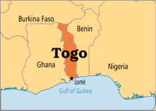 Togo on Map