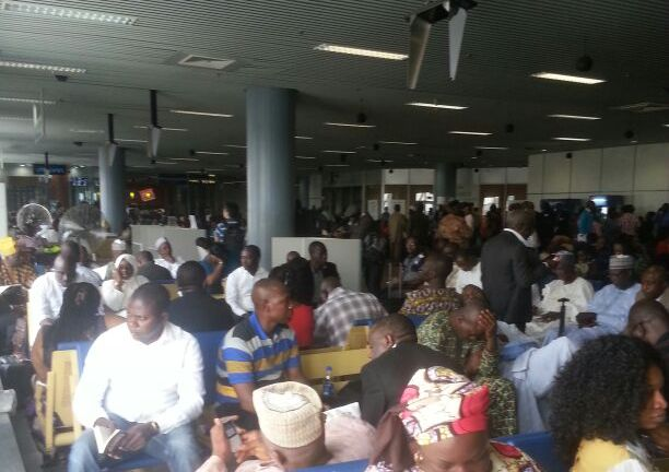 FILE PHOTO: Passengers stranded at the Abuja airport