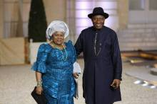 goodluck and patience jonathan in Elysee Palace France