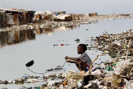 File photo of dirty stream where most rural dwellers use as source for water