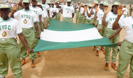 NYSC Corp Members on parade