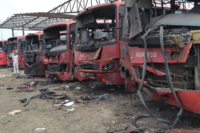 File Photo: Scene of the Nyanya bomb blast