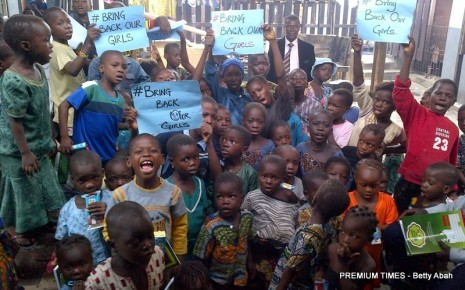 Children from the RCCG, Hope Centre's parish in Makoko also joined in the call to BringBackOurGirls.