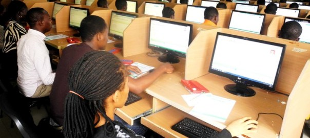 STUDENTS WRITING THE NECO EXAMS