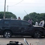 Buhari's bullet-proof SUV after bomb attack