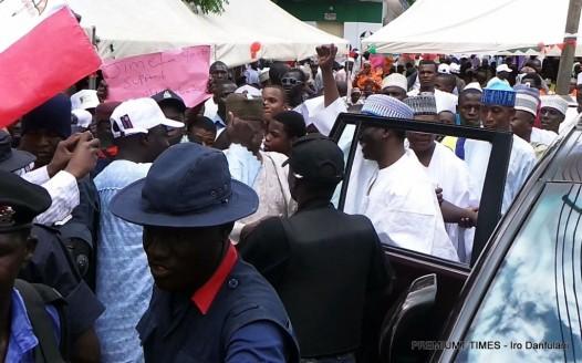 Nuhu Ribadu and supporters in Adamawa