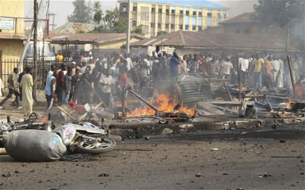Scene of a bomb blast