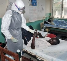 Ebola patients receiving treatment