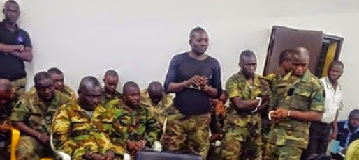 FILE PHOTO: The soldiers sentenced to death for mutiny in September 2014