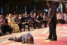 T.B. Joshua at a miracle session