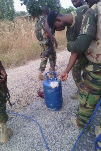 Recovered items from Boko Haram