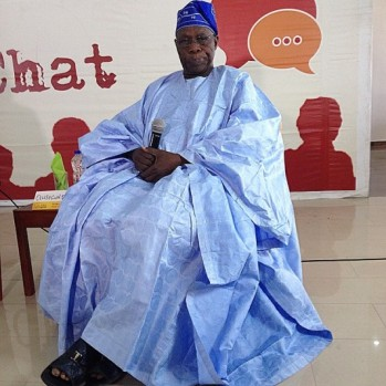 Ex-President Olusegun Obasanjo at an Ake Arts and Books Festival in Abeokuta on Friday... Photo: Courtesy Victor Ehikhamenor