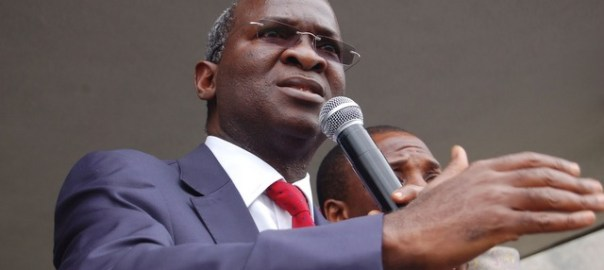 Minister of Power, Works and Housing, Babatunde Fashola. Photo credit: Sun Newspaper