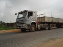 FILE PHOTO: Dangote trailer