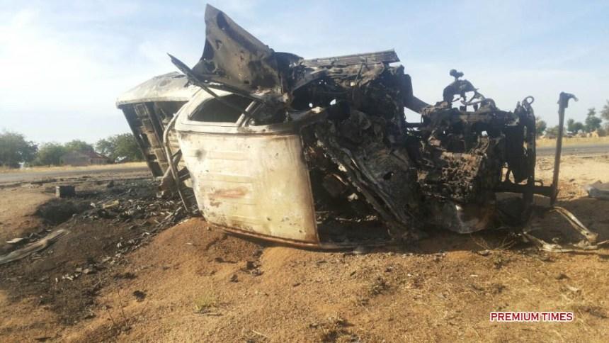 FILE PHOTO: Nigerian military attacked a Boko Haram van