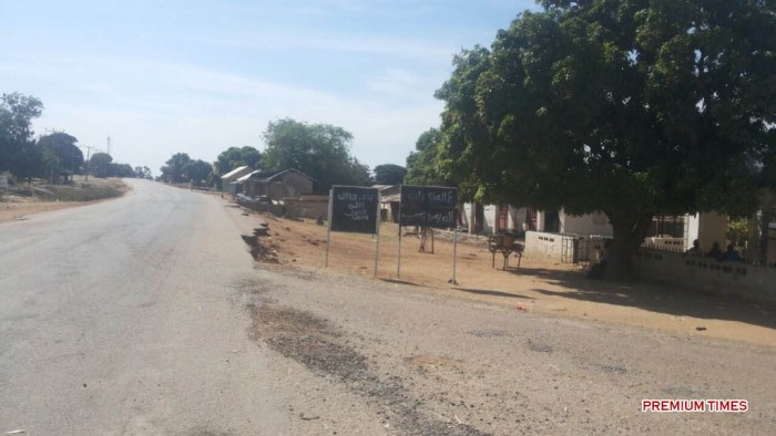 The road to Hong still deserted after Boko Haram insurgents were dislodged by the military