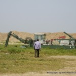 Dredger abandoned by contractors