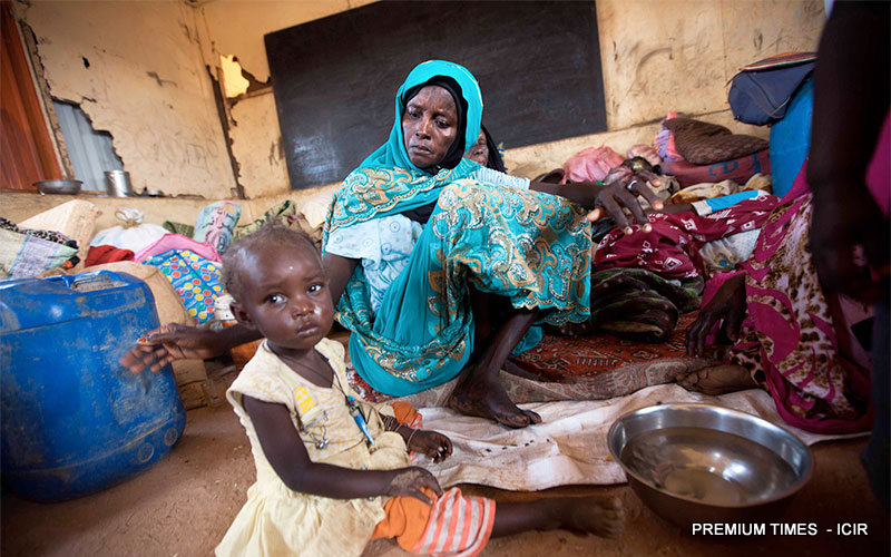 FILE PHOTO: A woman and her child in an IDP camp in Gombe.