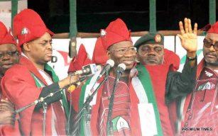 FILE PHOTO: President Jonathan at PDP Rally in Ibadan