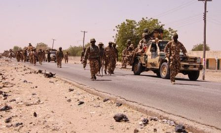 Nigerian Ground Troops on an operation