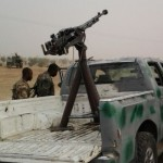 Terrorists vehicle mounted with Anti-Aircraft Gun recovered
