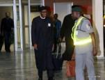 Muhammadu Buhari arriving from the U.K.