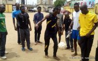Action during a recent trainning session in Lagos