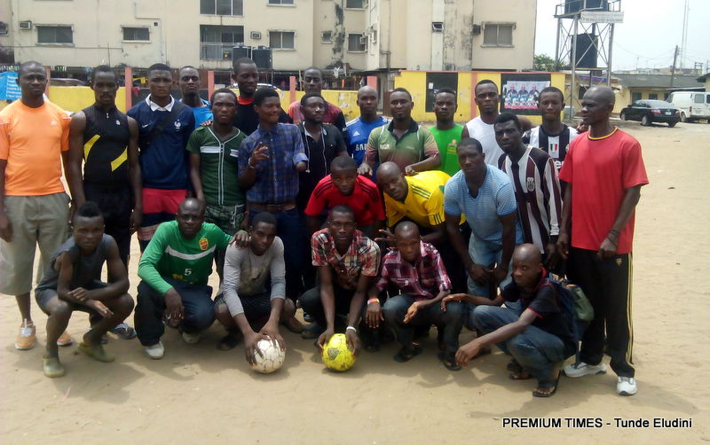 Members of the Power Eagles team strike a pose