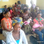 Women waiting to be attended to at a Primary Healthcare centre