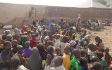 Some of the rescued women and children from Chalawa,   Sambisa forest during one of the operations last week.