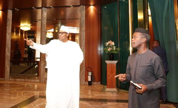 President Muhammadu Buhari on Day one at Presidential Villa